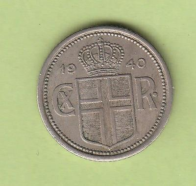 1940 Iceland 10 & 25 Aurar - One Year type coins- don't miss em