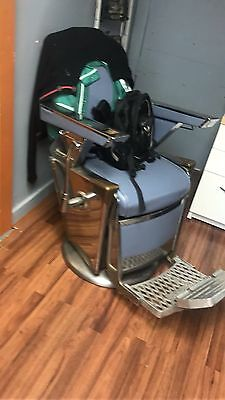Two  1950's Takara Belmont Chrome Barber Chair