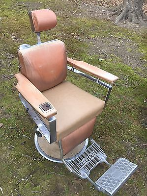 Antique Koken Mohawk Barber Chair