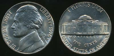 United States, 1976-D 5 Cents, Jefferson Nickel - Uncirculated