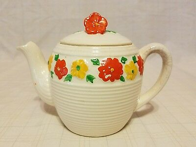 Vintage Floral Single Cup Teapot - made in Japan