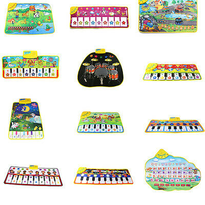 Kids Touch Play Keyboard Musical Carpet Mat Singing Learning Developmental Toys