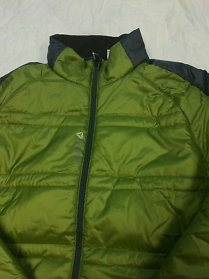 New Mens Reebok Lightweight One Padded Jacket-Coat-Green-Various Sizes