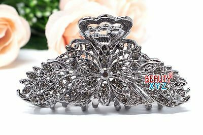 New Antique Style Large Metal Rhinestones Crystal Hair Claw Clip hair jaws clamp