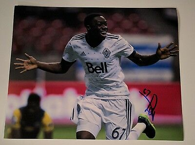 Alphonso Davies Signed 8x10 Proof MLS Whitecaps