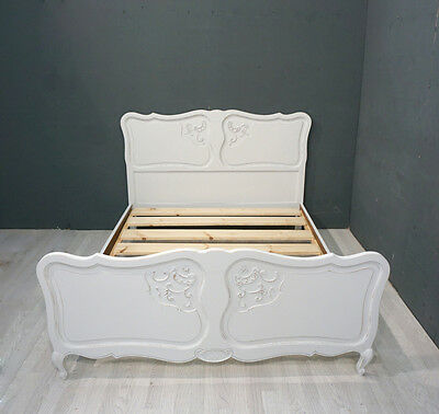 Vintage French Bed / Shabby Chic Double French Bed (BR314)