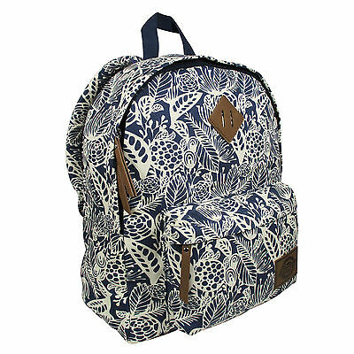 New Dickies Classic Canvas Backpack / Bag Authentic - Big Navy Floral $60 Retail
