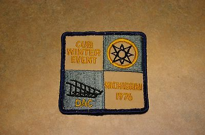 "Vintage 1976 Boy Scout Bsa 'club Winter Event' 'dac' 'michigami' 3"" Patch"