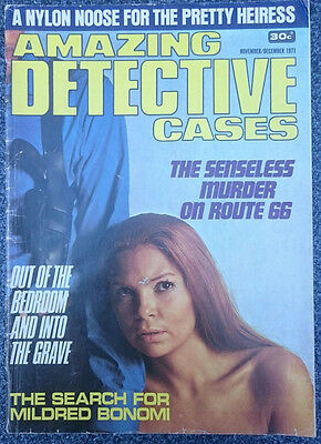 Amazing Detective Cases No. 1 First issue Australian true crime magazine Kenmure