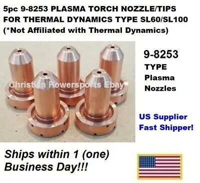 5pc 9-8253 PLASMA TORCH NOZZLE/TIPS FOR THERMAL DYNAMICS SL60/SL100 -US Supplier