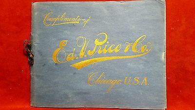 Vintage Ed V Price Chicago clothing factory tour catalog GREAT CONDITION!