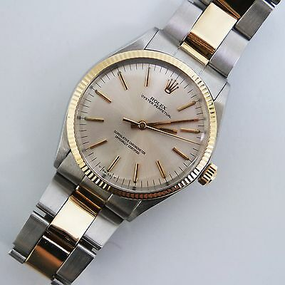 Rolex Oyster Perpetual Ref.1005 Acciaio Oro 18 Kt Vintage 35 Mm Revisionato