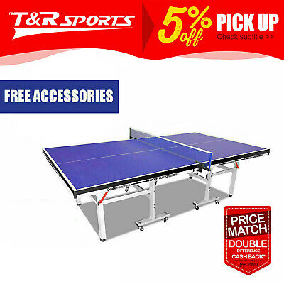 Double Fish Professional 19MM Ping Pong Table Tennis Table Free Bats Balls Net