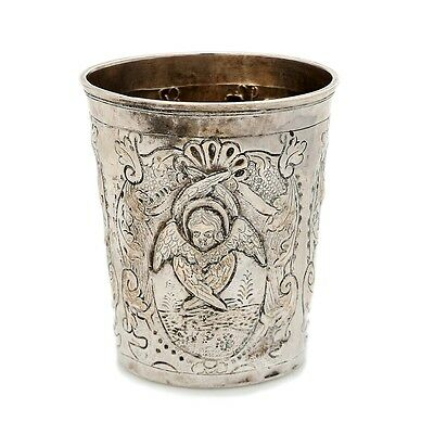 Solid silver cup. Russian Empire (Russia), Moscow, 1730.