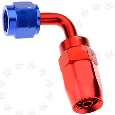 90 Degree AN4 Straight Fast Flow Fuel Oil Hose Fitting Swivel Seal