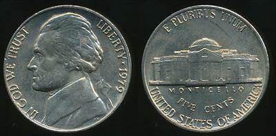 United States, 1979-P 5 Cents, Jefferson Nickel - Uncirculated