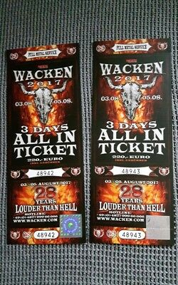 2 x Tickets für Wacken Open Air 2017