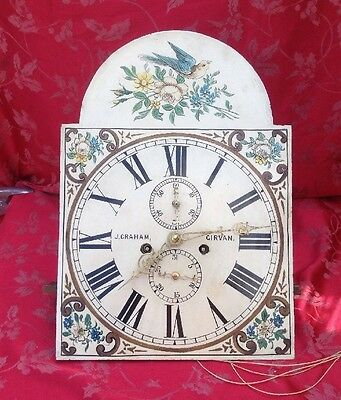 Rare Grandfather Longcase Clock Movement And Dial Nice Condition 13""