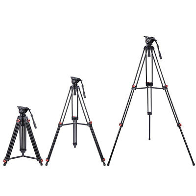"72"" Pro Portable Aluminum DV Video Camera Tripod Stand Fluid Pan Head Kit"