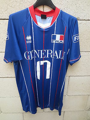 Maillot EQUIPE de FRANCE Volley-Ball porté D'ALMEIDA n°17 worn shirt ERREA XL