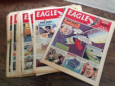 EAGLE COMICS, - 13 Of Them From 1961 Please Take A Look - Dan Dare
