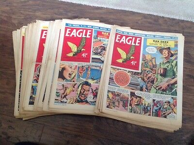 EAGLE COMICS, - 44 Of Them From 1959 Please Take A Look - Dan Dare