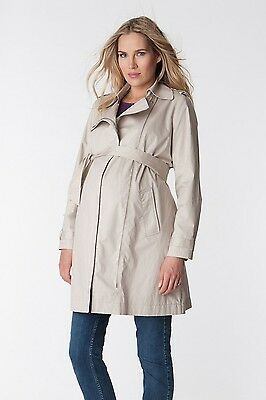 Size 10 Séraphine Tabitha Maternity Trench Coat, Beige RRP £89