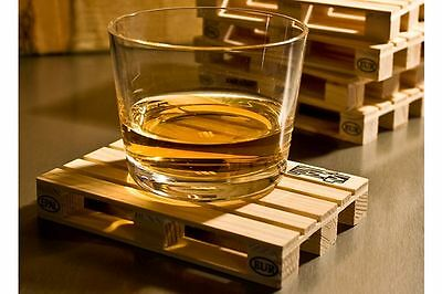Palette It Set 8 Wood Coasters Mini Wooden Pallet Hot Pad Drinking Gift Pack