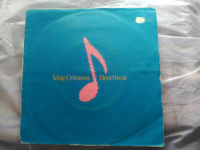 Single King Crimson - Heartbeat - Eg Spain 1982 Vg/vg+