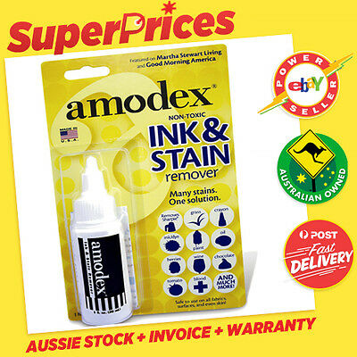 AMODEX◉INK & AND STAIN REMOVER CLEANER◉30ml◉Non-Toxic◉Marker Texta + ◉USA MADE◉