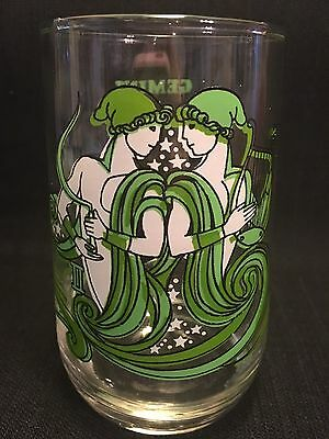 Vintage GEMINI 1976 Glass Tumbler Beverly Horoscope Astrology Zodiac Sign Arby's