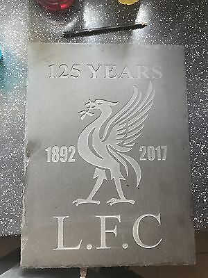 Gold Flakes Liverpool 125 Years Stone Carving Lfc Plaque One Ov It's Kind