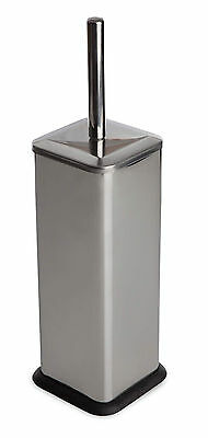 Stylish Stainless Steel Square Toilet Brush Holder and Brush Rubber Base Stand