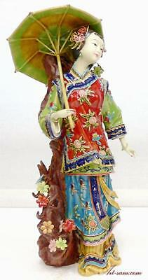 Chinese Porcelain Lady Figurine - Joyful