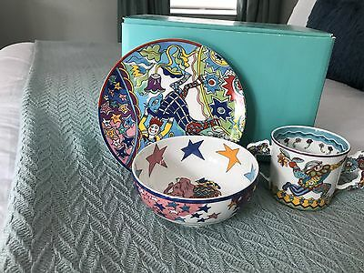 Tiffany & Co. Child's Three Piece Porcelain Dish Set
