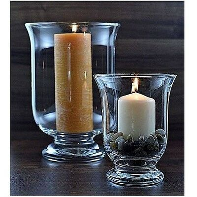 Clear Glass Modern Hurricane Lantern Candle Holder