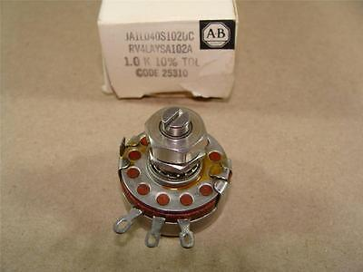 New Allen Bradley Ja1L040S102Uc Type J 1.0K Ohm Potentiometer Pot Trimmer 10%tol