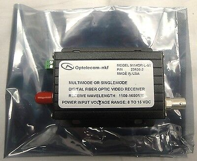 Optelecom -Multimode/Singlemode Fiber Optic Video Receiver -(9114DR-L-ST)(P4)