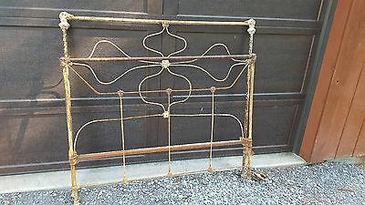 antique iron bed post appears to be early 1900's