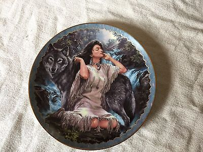 """Bradford Exchange Indian Plate. """"Loyal Guardian """". 1st in """"Soulful Companions """""""