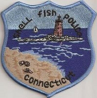 Shell  Fish Police Patch Connecticut CT NEW !!!