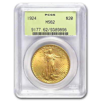1924 $20 Saint-Gaudens Gold Double Eagle MS-62 PCGS