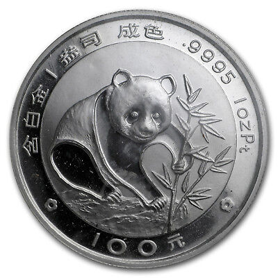 1988 China 1 oz Proof Platinum Panda
