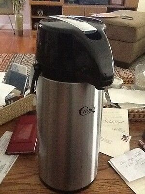 Choice Coffee Airpot 3 liter stainless steel with lever,one decaf with orange