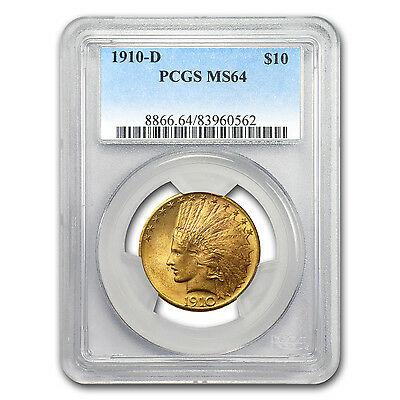 1910-D $10 Indian Gold Eagle MS-64 PCGS