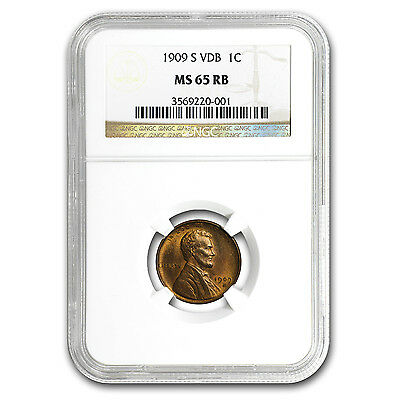 1909-S VDB Lincoln Cent MS-65 NGC (Red/Brown)