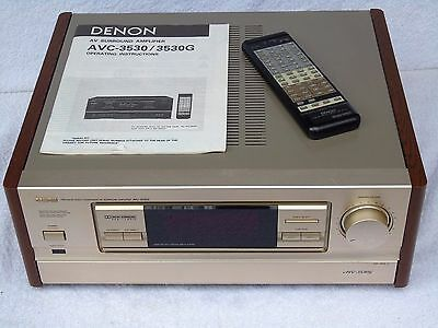 Denon AVC-3530G Dolby 5.1  Integrated AV Receiver + Manual & Remote Control