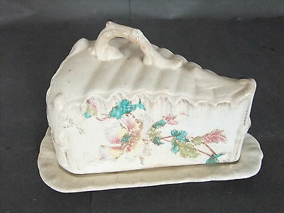 Wedge-shaped Pottery Cheese Dish - Victorian