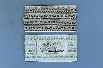 Antique LOT of 2 DIRACO SCALLOPED EMBROIDERED TRIM MADE IN GERMANY OLD #03904