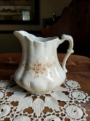 Senator England Crown Semi-Porcelain Brown Transferware Pitcher